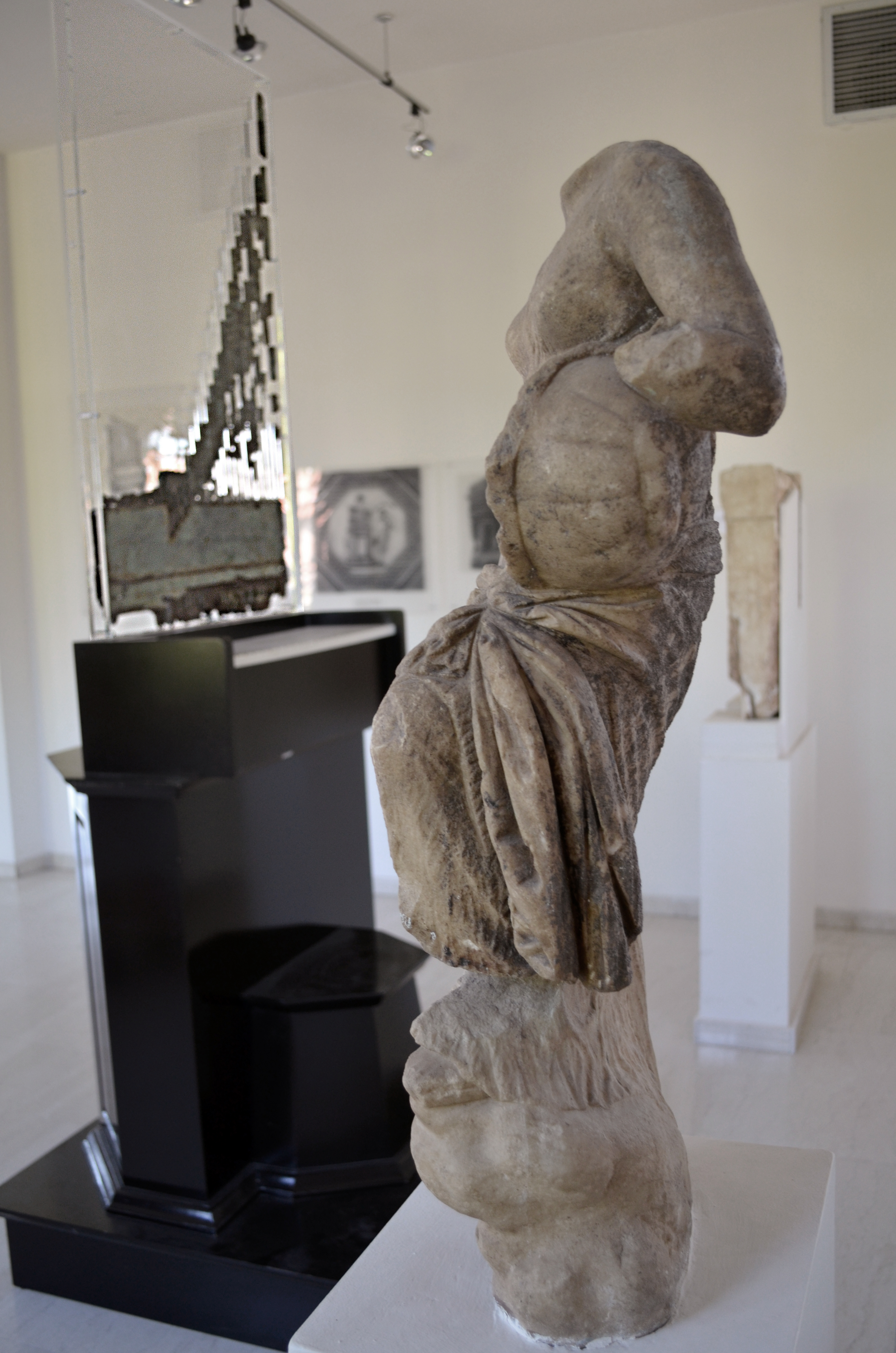 Muse's statue with lyre, possibly Terpsichore. Dion, Archaeological Museum