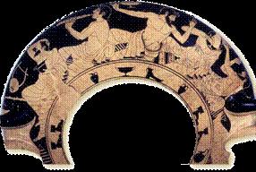 Ερυθρόμορφη κύλικα του β΄ μισού του 5ου αι. π.Χ. με παράσταση συμποσίου. Βερολίνο, Antikensammlung