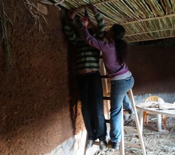 Εφαρμογή καλαμιών οροφής