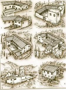 Σχεδιαστικές αναπαραστάσεις σπιτιών της αρχαιότητας