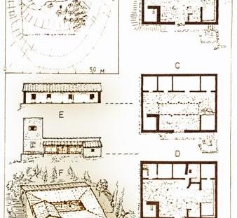 Κατόψεις φάσεων και αναπαραστάσεις αγροτόσπιτου στη Βάρη. β' μισό 4ου αι. π. Χ.