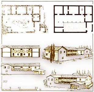 """Κάτοψη και αναπαραστάσεις αγροτόσπιτου στα Άνω Λιόσια (""""Dema House"""")"""