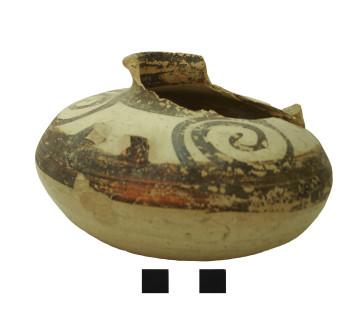 Αρτόσχημο αλάβαστρο Μυκηναϊκού τύπου από παλιότερη παράδοση/καταστροφή στην περιοχή Πλαταμώνα / Ηρακλείου