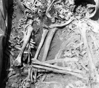 Ύστερη Εποχή Χαλκού, Σπάθες, μία νεκρή μητέρα (;) αγκαλιά με νεκρό παιδί, και ένα ακόμη στα πόδια της