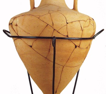 Amphora in the type of Mendi from the ceramic workshop of Krania at the foothills of Platamon Castle, where the ancient Herakleion is located. End of 5th century B.C.