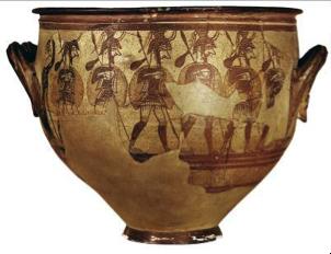 Ο μυκηναϊκός «κρατήρας των πολεμιστών». Αθήνα, Εθνικό Αρχαιολογικό Μουσείο (© ΥΠ.ΠΟ.Α)
