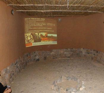 Αρχαιολογική παρουσίαση του θέματος στο οβάλ κτίριο φυσικής δόμησης